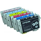 Epson 837 ink Color Multipack Ink Inkjet Genuine Cartridges 98/99 with Black, Cyan, Magenta, Yellow, Light Cyan, and Light Magenta for the Epson Artisan 837 Printer Includes: T098120, T099220 T099320, T099420, T099520, T099620