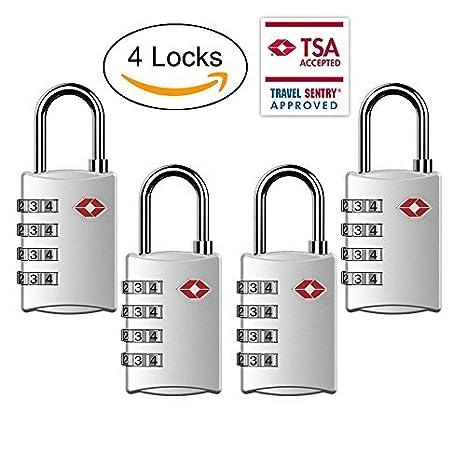 TSA Equipaje Locks, TSA Aprobado cerraduras de combinación equipaje de viaje para suitcases-4 Pack: Amazon.es: Bricolaje y herramientas