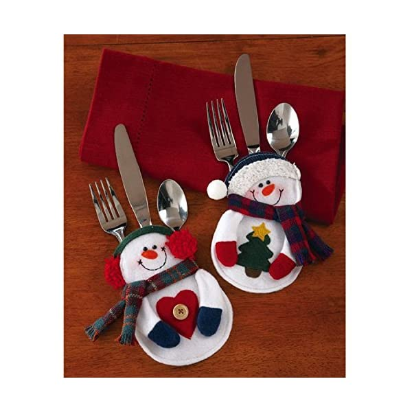 Portaposate Costume da Babbo Natale, Natale, decorazione per tavolo (8pcs) 2 spesavip