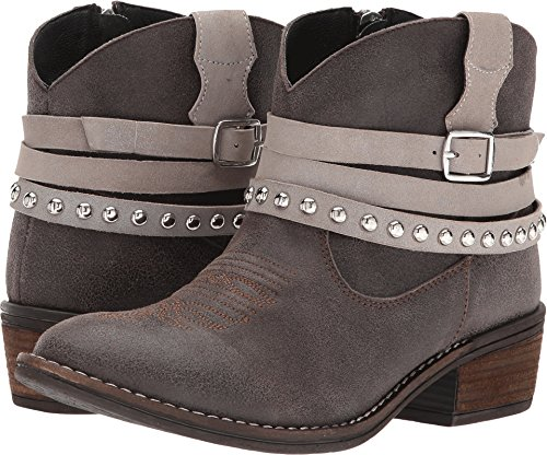 Dingo Womens Grey Fashion Boots Leather Cowboy Boots Round Toe 10 M