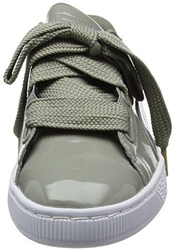 Rock Ginnastica Heart Puma Donna Scarpe Basket Patent Wn's Grigio Ridge da Basse C6UqHxwf