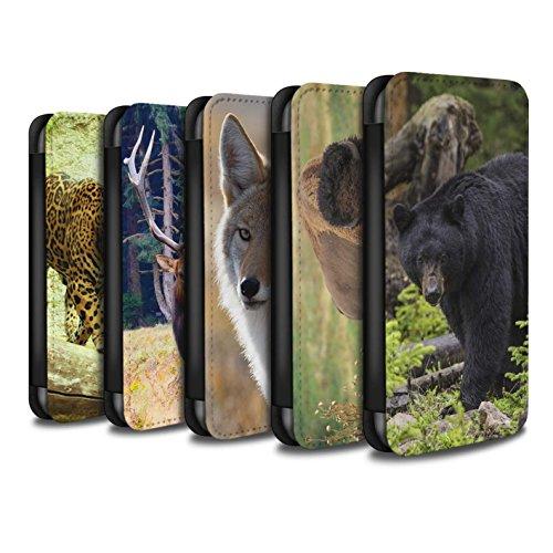 Stuff4 Coque/Etui/Housse Cuir PU Case/Cover pour Apple iPhone 6S+/Plus / Pack 7pcs Design / Animaux Amérique Nord Collection