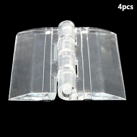 Ogquaton 6X Bisagras de plástico acrílico Transparente Caja ...