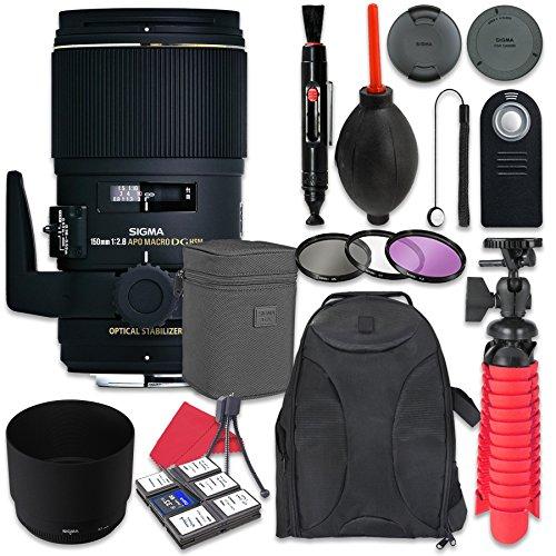 Sigma 150mm f/2.8 EX DG OS HSM APO Macro Lens For Nikon + Accessory Bundle