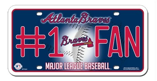 Atlanta Braves License Plate - #1 Fan