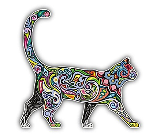 Diversity Color Cat for Laptop, Macbook, Car, Bumper, Wall 5X5 Inches Sticker Decal