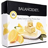 BalanceDiet™   Protein Bar   15g of Protein   Low Carb   7 Bar Box (Zesty Lemon Crisp)