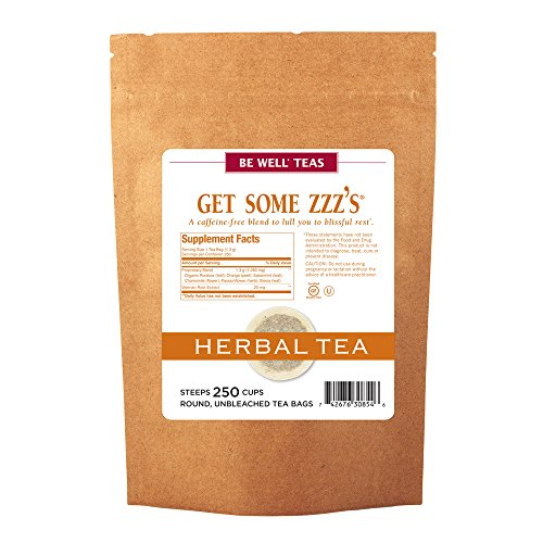 The Republic Of Tea Get Some Zzz's Tea, 250 Tea Bags, Herbal Tea For Rest, Gourmet Rooibos Red Tea