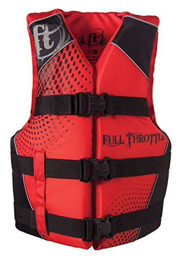 Full Throttle Teen Nylon Water Sports Vest, Red