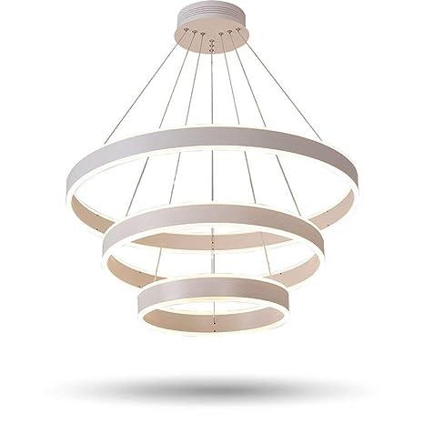 RJJ Modernos 3 Anillos Circulares Luces Colgantes LED Para ...