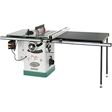 Grizzly G0691 Cabinet Table Saw with Long Rails and Riving Knife