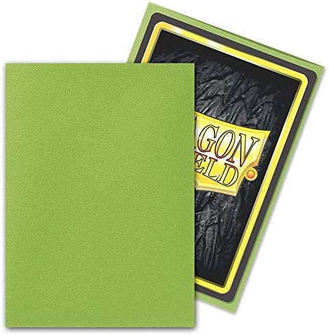 Matte Lime Dragon Shield 100 Count Standard Size Matte Deck Protector Sleeves