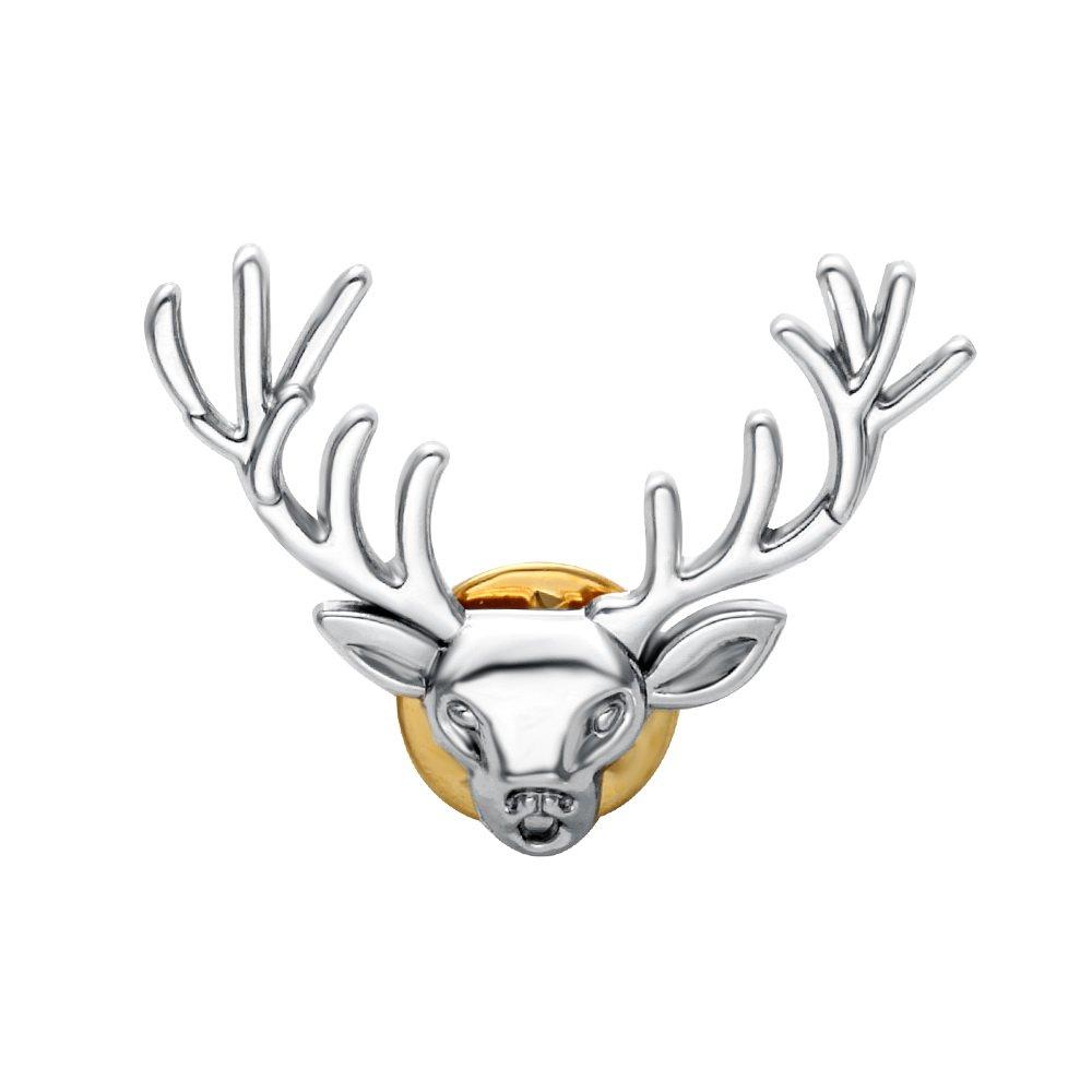 Senfai Men's Antlers Collar Brooch Animal Brooch for Men Jewelry Brooch Hot Christmas Ornaments