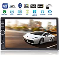 Intenavi 7 Inch 2 Din Touchscreen Car MP5 Stereo With Bluetooth/SD Slot/USB/AUX Player + Remote Control Multimedia Entertainment Work Station Hand Free Function (Not include the DVD, GPS & SD card) …