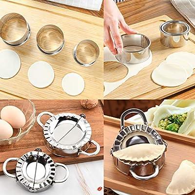 Bageek 5PCS Dumpling Tool Set Stainless Steel Dumpling Mold Dumpling Press and Cutter: Kitchen & Dining