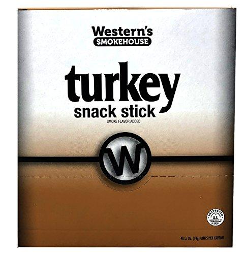 Western's Smokehouse Turkey Pack of 48 Meat Snack Sticks (.5 oz Sticks)