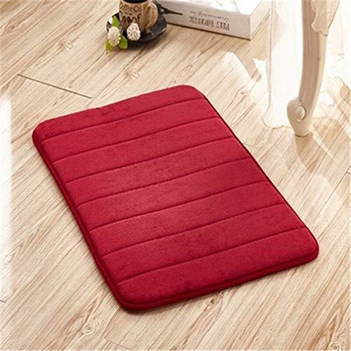 (Dal-Msee Water Absorption Rug Bathroom Mat Kitchen Door Floor Mat Carpet for Toilet Non Slip)