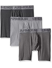 """Men's Under Armour Charged Cotton Stretch 6"""" Boxerjock 3-Pack"""