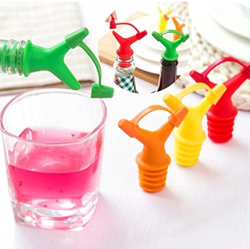 Clearance Sale!DEESEE(TM)Double Head Leakproof Soy Sauce Bottle Mouth Stuffed Vinegar Bottle Stopper (Orange) by DEESEE(TM)_Home (Image #5)