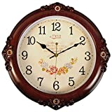 FortuneVin Wall Clock Silent movement Wall Clock Home Office Decor for Living Room Bedroom and Kitchen Clock Wall 16 In Silent, Wall Table Creative Quartz16 India40.5Cm Wood-Grain
