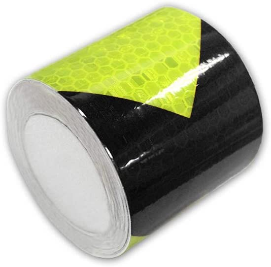 Muchkey Blue-White Honeycomb Arrow Sticker reflective tape Reflective Conspicuity Safety Warning lighting Tape Strip for car//trailers//truck//traffic//Construction site 5cmx3m 2x118