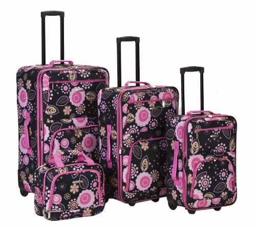 rockland-luggage-brown-leaf-4-piece-luggage-set-pucci-one-size