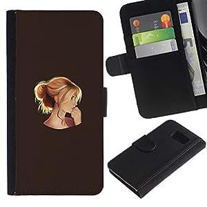 All Phone Most Case / Oferta Especial Cáscara Funda de cuero Monedero Cubierta de proteccion Caso / Wallet Case for Samsung Galaxy S6 // pensando