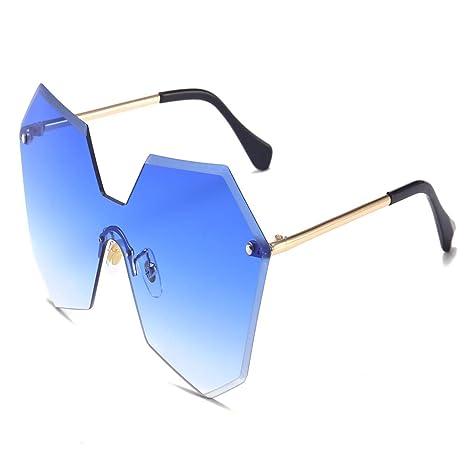 Yangjing-hl Gafas de Sol de Moda sin Montura Gafas de Sol ...