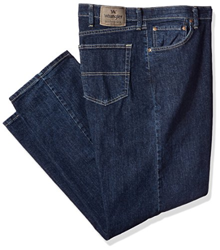 - Wrangler Men's Big & Tall Regular Fit Comfort Flex Waist Jean, Dark Indigo, 46X30
