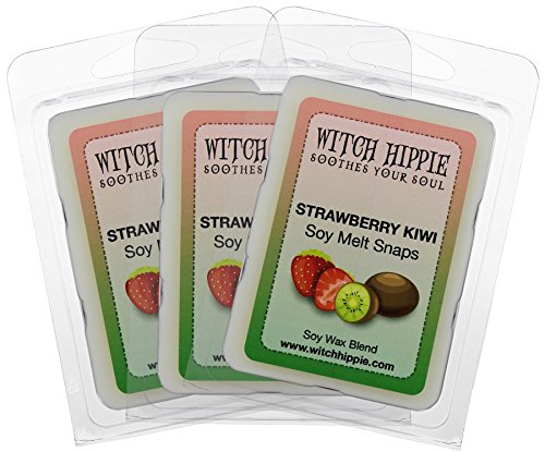 3 Soy Wax Tarts - Strawberry Kiwi Scented Wickless Candle Tarts 3 Pack, 18 Natural Soy Wax Cubes, The In House Blend Of Strawberry With Kiwi Melon