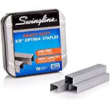 "Swingline Staples, Optima, Heavy Duty, 3/8"" Length, Jam Free, 125/Strip, 2500/Box, 1 Box (35550)"