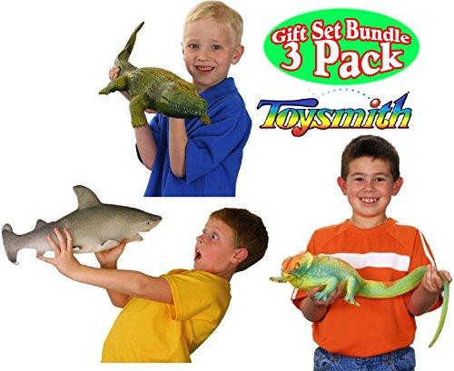 Growing Snake - Toysmith Ginormous Grow Shark, Crocodile & Lizard Gift Set Bundle - 3 Pack (Assorted Colors)