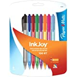Paper Mate InkJoy 100 RT Retractable Medium Point Advanced Ink Pens, 8 Fashion Coloured Ink Pens (1818459)