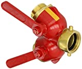 Dixon S7100-15 Brass Full Flow 1/4'' Turn Ball Type Hose Valve, 1-1/2'' NST Female x 1-1/2'' NST Male, 175 psi Pressure