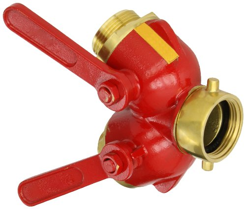 Dixon S7100-15 Brass Full Flow 1/4'' Turn Ball Type Hose Valve, 1-1/2'' NST Female x 1-1/2'' NST Male, 175 psi Pressure by Dixon Valve & Coupling