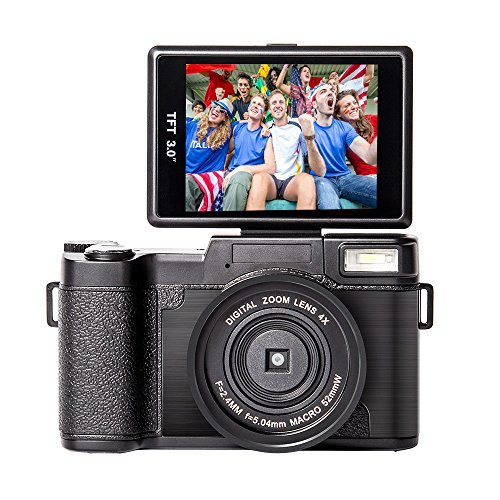 Digital Camera Vlogging Camcorder Full HD Camcorders 1080p 24.0 Megapixels Camera Include...