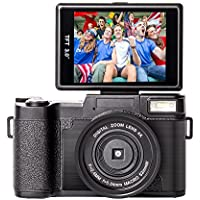 Digital Camera Vlogging Camcorder Full HD Camcorders 1080p 24.0 Megapixels Camera Include 52MM Wide Angle Close Up Lens