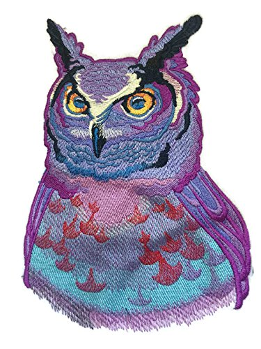 Nature weaved in threads, Amazing Birds [Sunset Owll [Custom and Unique] Embroidered Iron on/Sew patch [7.8