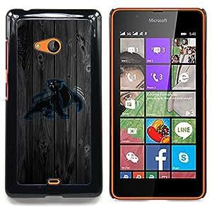 For Microsoft Nokia Lumia 540 N540 - Carolina Panther Football /Modelo de la piel protectora de la cubierta del caso/ - Super Marley Shop -