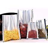 BeesClover 100-1000pcs Small Half Transparent Aluminum Flat Food Bags Heat Seal Bag Retail Shop Bags Candy Bag Packing