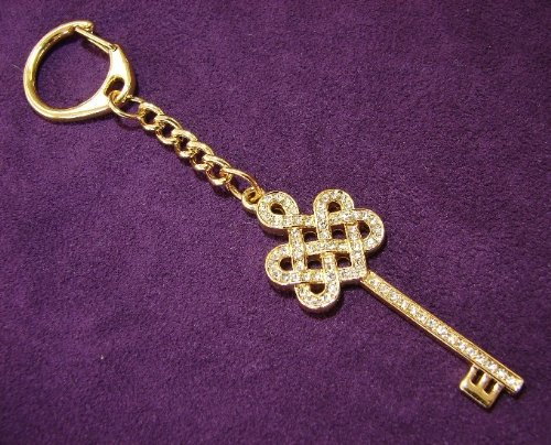 Bejeweled Mystic Knot with Key Keychain