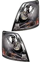 Volvo 2004-2016 VN/VNL Truck Headlight Pair Set Left Right Side with All Bulbs