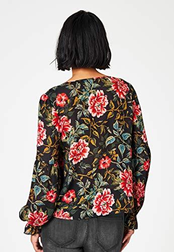 en imprim Blouse Floral Multicolore crpe Hallhuber 50x87anwqn
