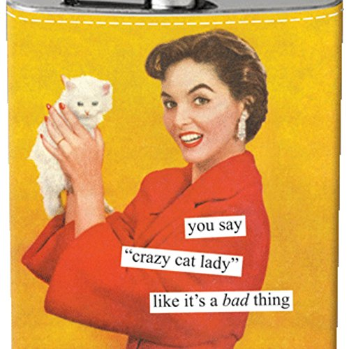 Anne Taintor Flask - Cat Lady -