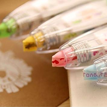Asap chic 1PC decorativo cancelleria Push Lace correttore a nastro verde creativo studente forniture Small Pink love