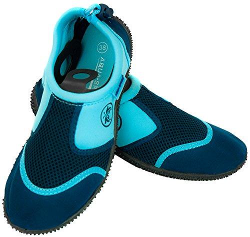 Aqua-Speed Ensemble - Chaussures Aquatiques + Serviette en Microfibre | Femmes | Hommes | Enfants | Adolescents | Unisexe | Chaussures d'eau | N
