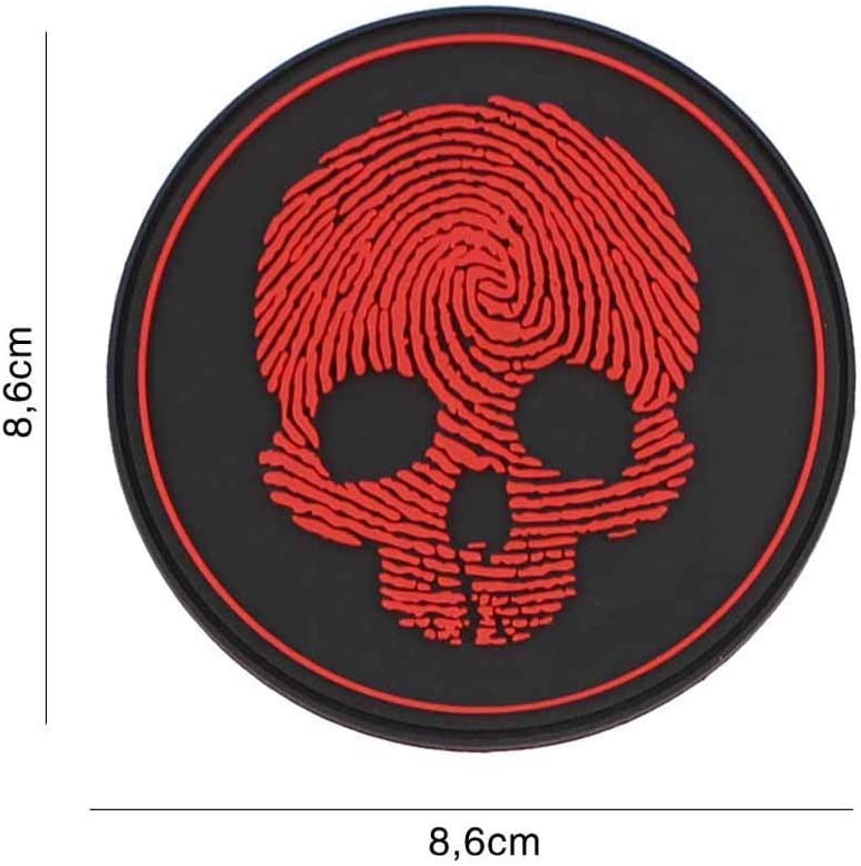Van Os Emblem 3D Rubber Patch PVC Fingerprint Skull Klett Abzeichen /Ø 8,6 cm /… #5133 Klett Abzeichen gelb-gr/ün