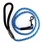 Amazon Lightning Deal 70% claimed: GOMA Soft reflective Dog training Leash- Quality bright nylon increased safety for night walking – for Medium and Large breeds – ergonomic anti slip grip made with mountain climbing rope