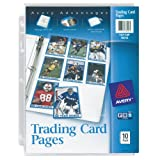 Avery Trading Card Pages, Acid Free, Pack of 10 (76016)