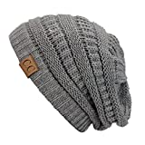 Light Grey_New Super Cute Thick Cap Hat 100% Acrylic Unisex Winter hat warm (US Seller)